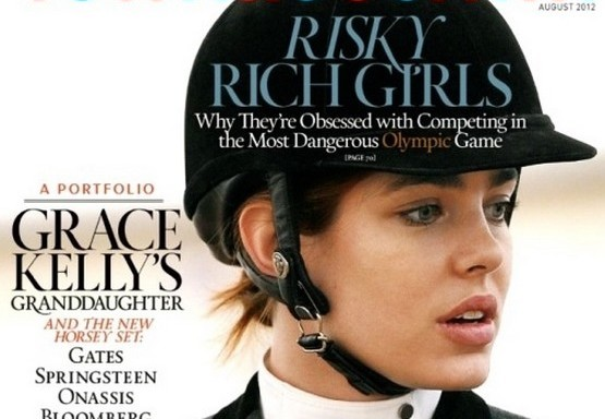 Charlotte Casiraghi for Town & Country, august 2012