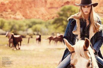 [Fashion Editorial] Le «Best Western» de KT Auleta pour Elle US