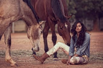 [Fashion Editorial] Des chevaux en fleurs pour Grazia India