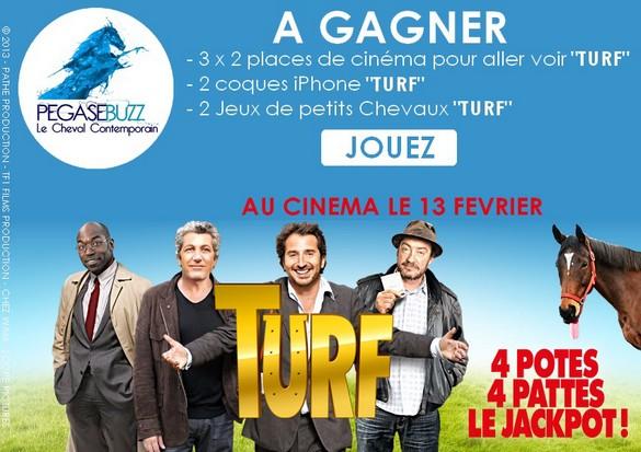 [Concours] Des places et cadeaux du film TURF à gagner !
