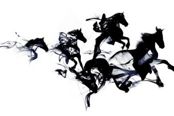 [Illustration] Robert Farkas : black horses