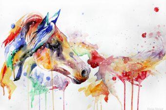 [Painting] Elena Shved : des chevaux hauts en couleur