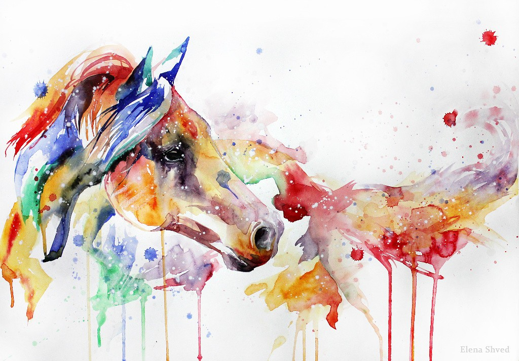 peinture chevaux wallpaper - photo #43