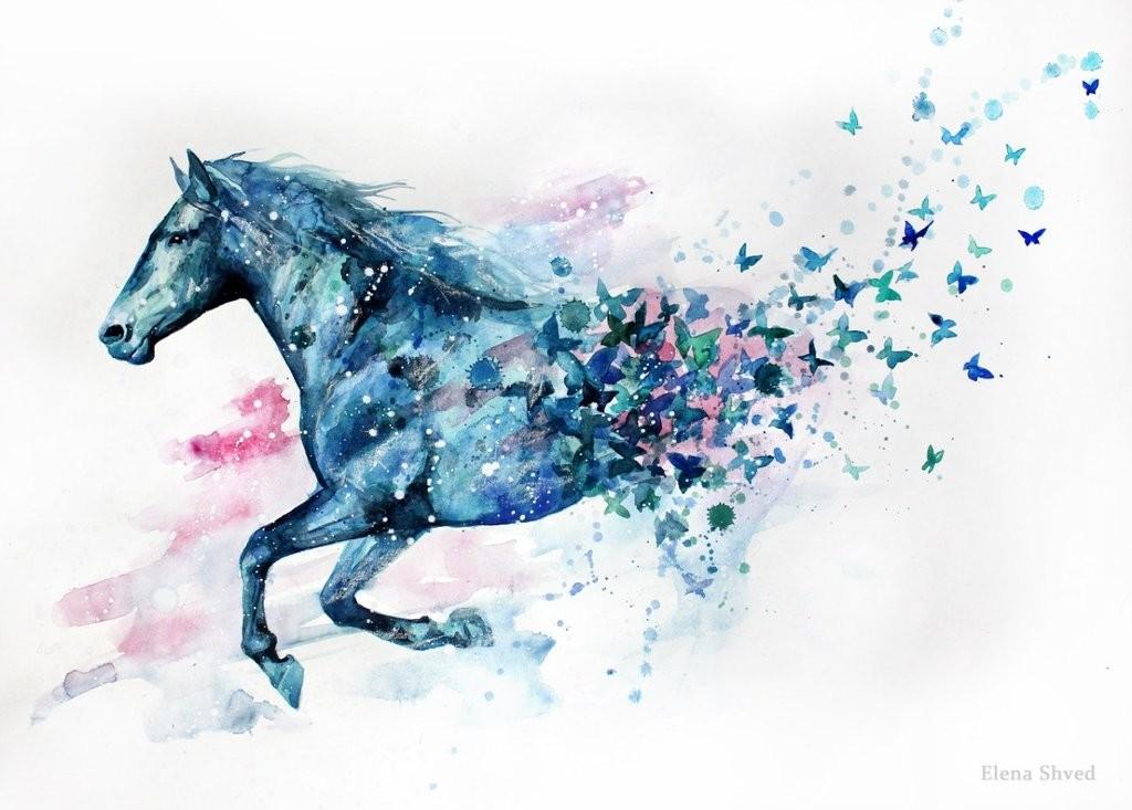 peinture chevaux wallpaper - photo #27