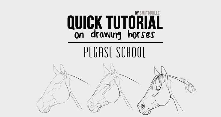 Creative arts drawing horses tutorial by smirtouille pegasebuzz le cheval contemporain - Comment dessiner un poney ...