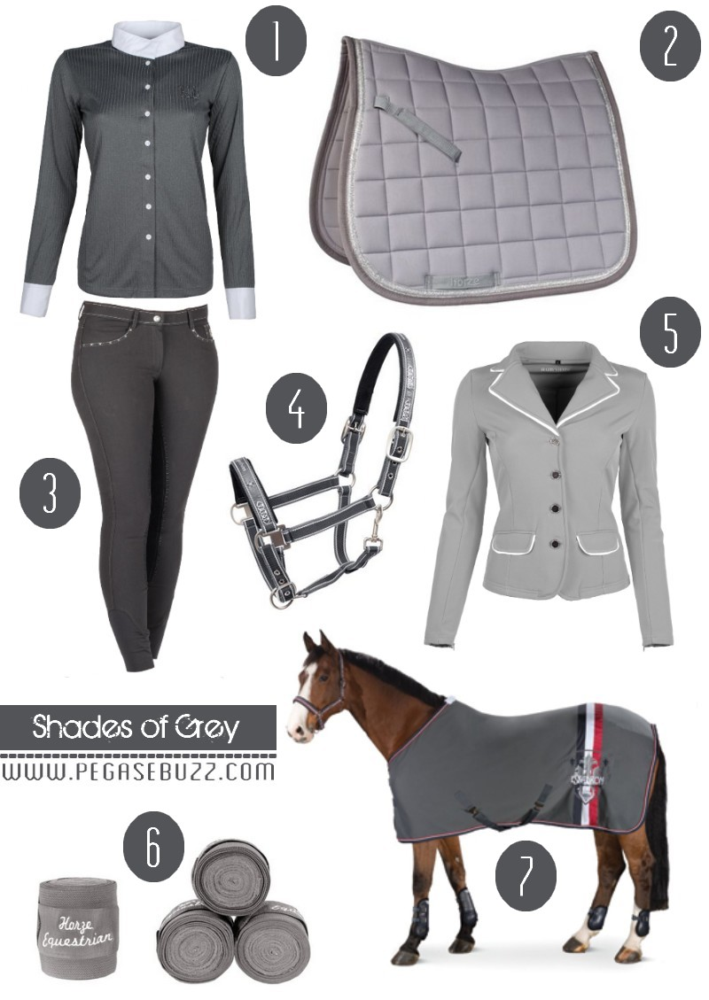 Equestrian Fashion Shades Of Grey Couverture Tapis De