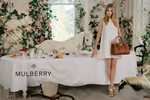 [Fashion Ad Campaign] Le poney blanc de Mulberry