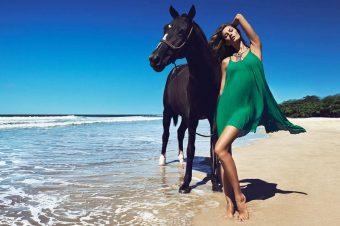 [Fashion Ad Campaign] H&M à cheval entre le noir et le blanc
