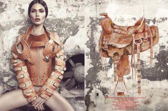 [Fashion Editorial] Horse Magazine : enlassée par le cuir
