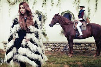 [Fashion Editorial] Lee Ho, equestrianista pour Vogue Korea