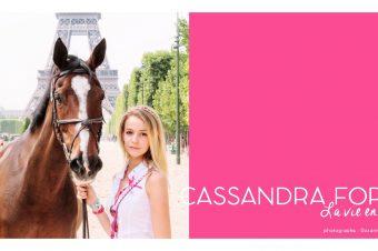 [EXCLUSIVE INTERVIEW] Cassandra Foret : Cavalière, la vie en rose