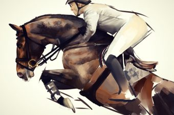 [Equine Painting] Nightsrunner : Showjumping