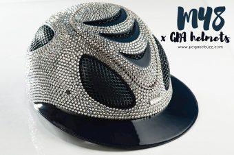 [Equestrian Fashion] MY8 et GPA Helmets nous protègent en Swarovski