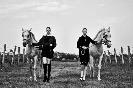 [Fashion Editorial] Black & White horses for Amazing Magazine