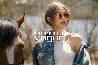 [Fashion Ad Campaign] Gigi Hadid : horseback for Vogue Eyewear