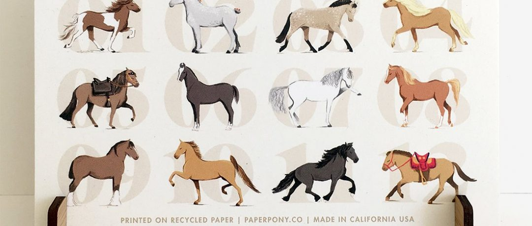 [Equestrian Lifestyle] Le calendrier 2018 de PaperPony Co
