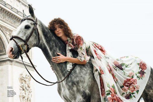 [Fashion Editorial] Grazia et le cheval à Paris